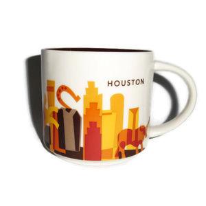 Starbucks Houston City Mug Citscape Orange 2014